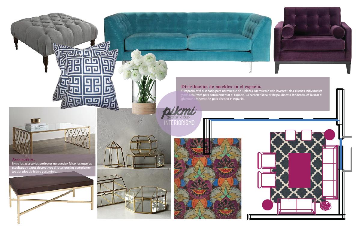 Pikmi interiorismo propuesta sala casa b modern art for Art deco decoracion