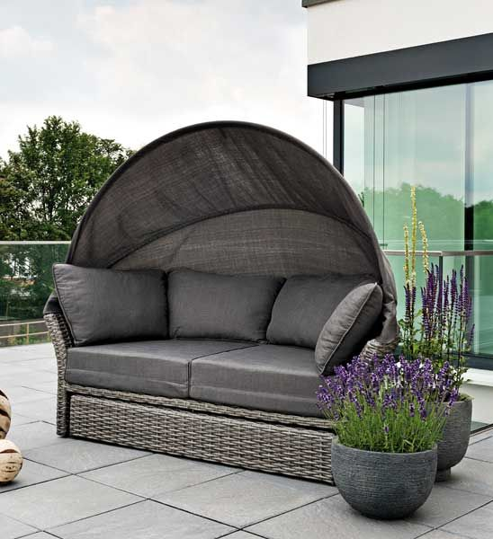 sonneninsel polyrattan grau garten garden pinterest sonneninsel polyrattan polyrattan. Black Bedroom Furniture Sets. Home Design Ideas