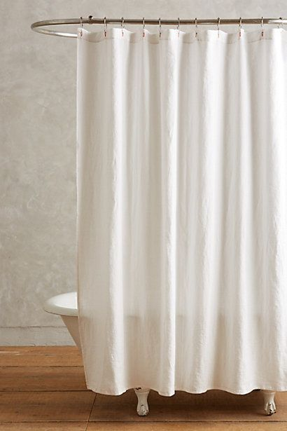 Anthropologie Europa Lago Duschvorhang Aus Leinen Curtains