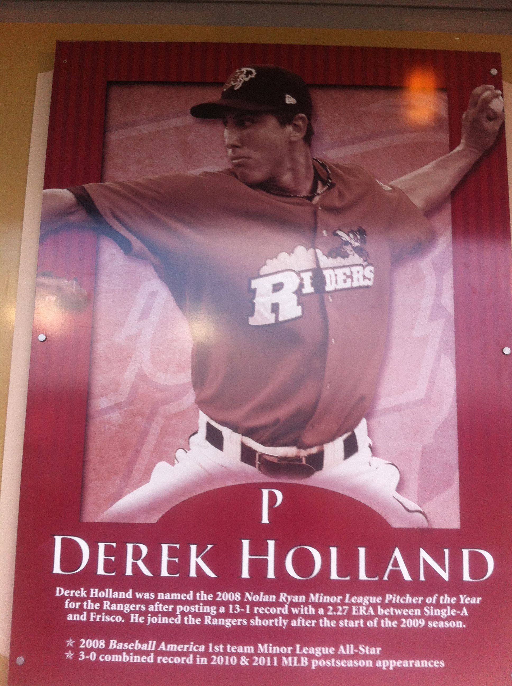 Derek holland now everybody knows who to bring to my
