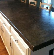 Concrete Countertop Kit By Encore And Here Is The After Picture Grout Lines Are Gone
