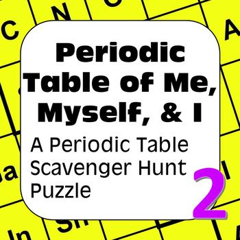 A periodic table of the elements scavenger hunt all about me myself a periodic table of the elements scavenger hunt all about me myself i urtaz Image collections