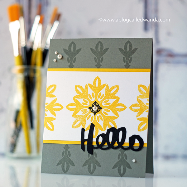 Superbe Throwback Thursday: Round Repeats   Hello Card By Wanda Guess For Papertrey  Ink (August