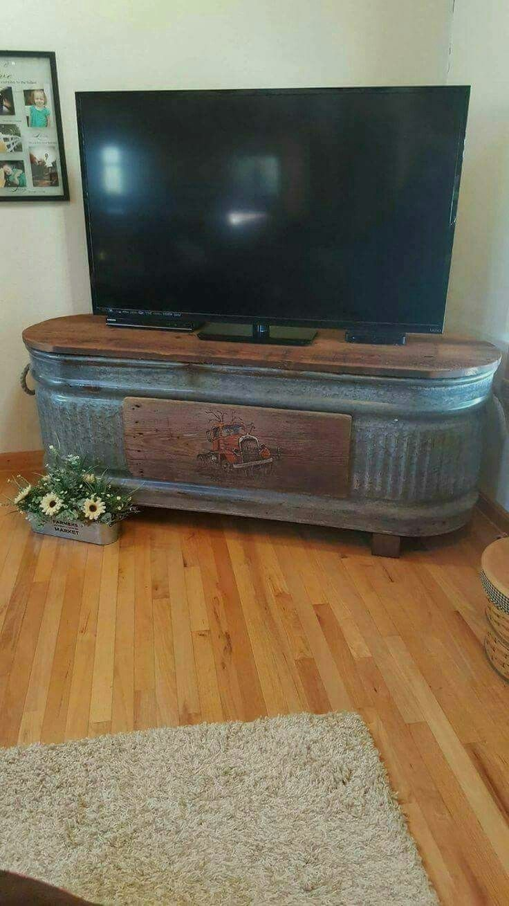 Handmade Rustic Corner Table/Tv Unit. Reclaimed an