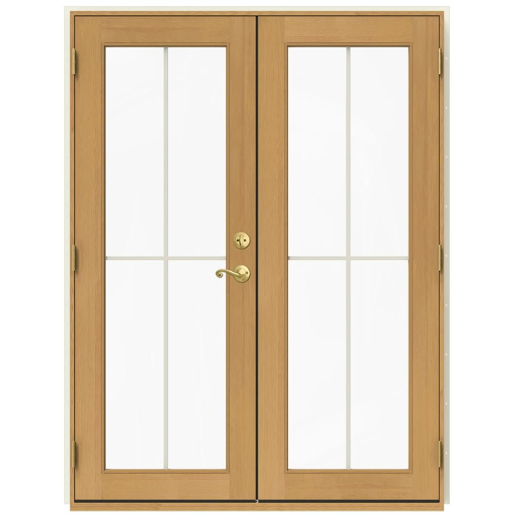W 2500 French Vanilla (White) Right Hand Inswing French Wood Patio Door