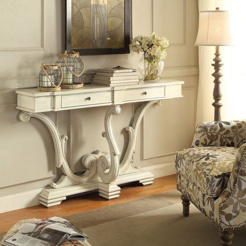 Coaster Company Of America Wood Scrolled Console Table