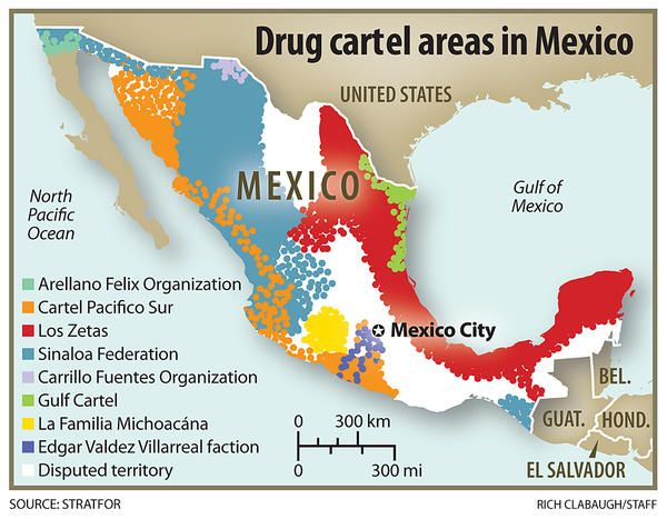 Map of Mexican cartels Codex s