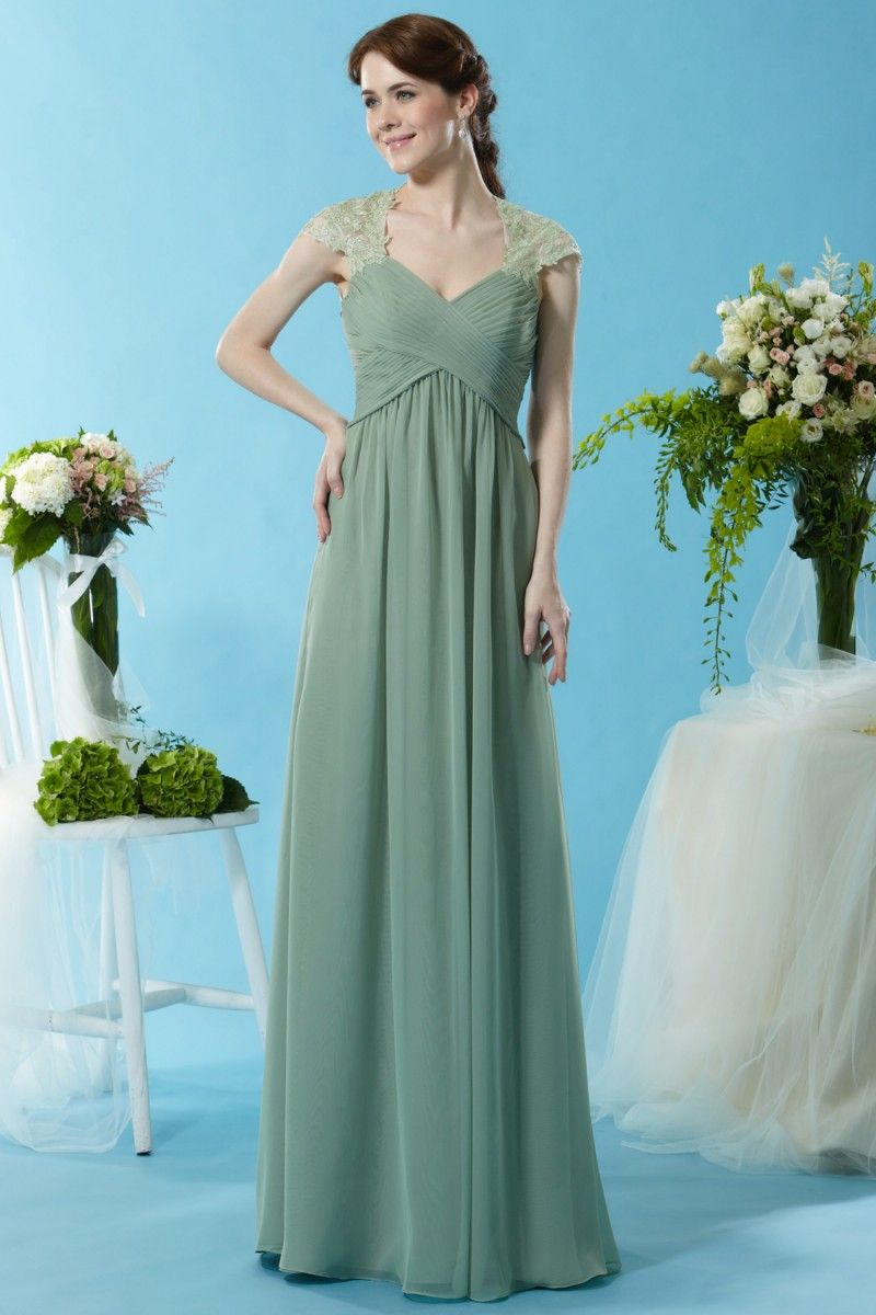 Eden Bridesmaids 7445 An elegant Chiffon gown made floor length with ...