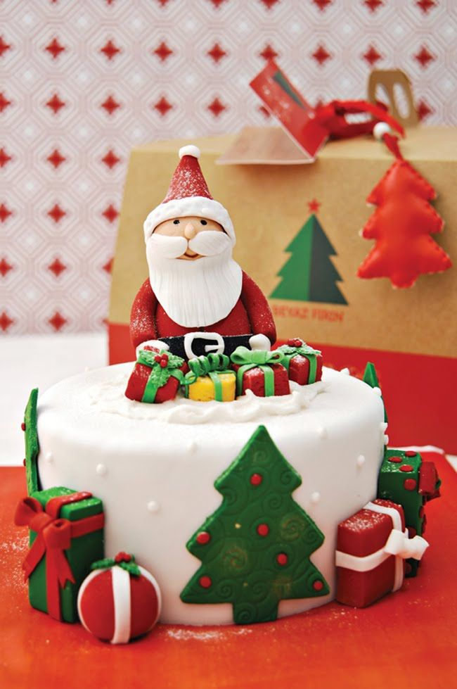 Beyaz Fırın | Christmas cake decorations, Christmas cake ...