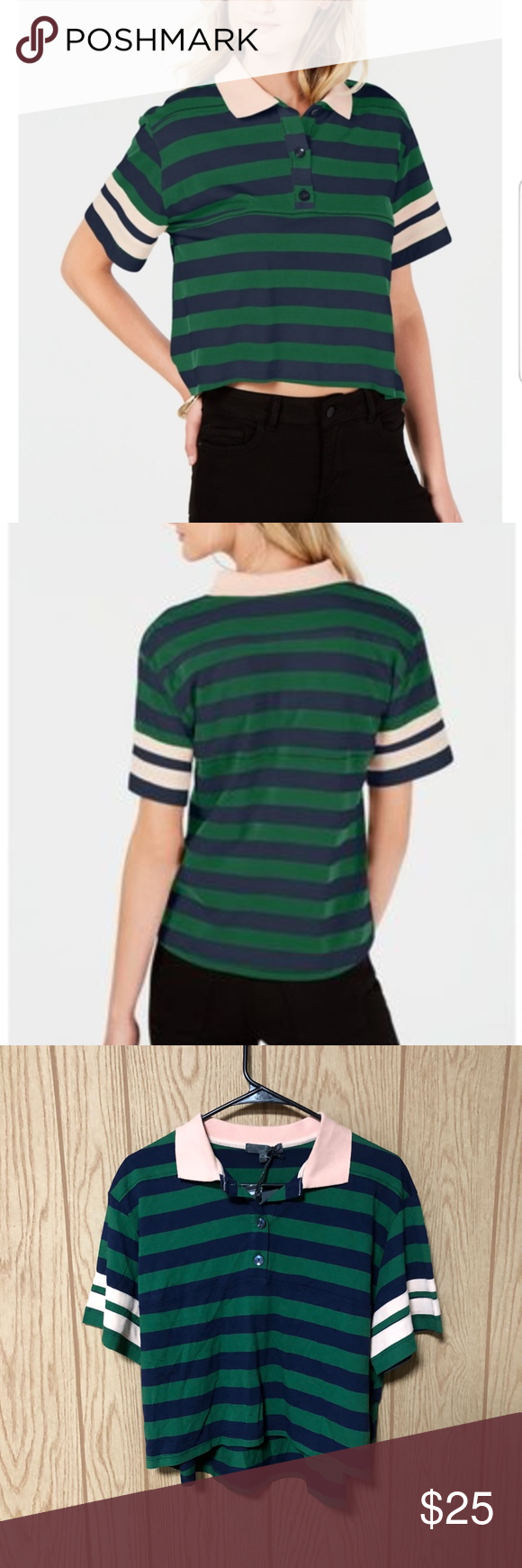 Rules of EtiquetteLiving Doll Striped Polo TopGreen