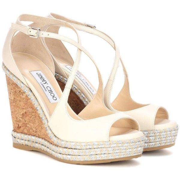 Jimmy choo Dakota 120 Leather Wedge Sandals - Antique rose Cheap Sale From China From China Online Discount New oDiEzv6
