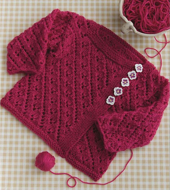 Ravelry: #25 Lacy Cardi pattern by Lori Steinberg | sweteres bebes ...