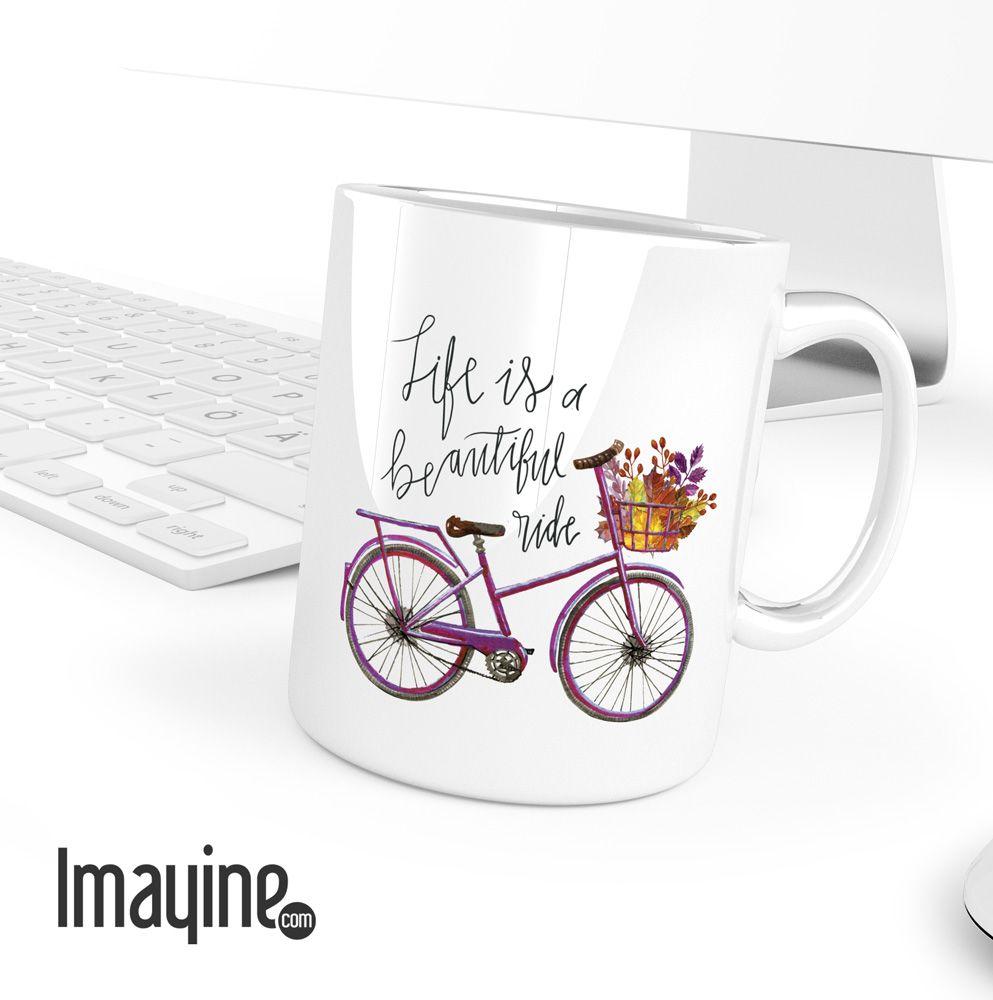 Taza Bicicleta Retro Tazas Personalizadas Custom Mugs  ~ Tazas Para Infusiones El Corte Ingles