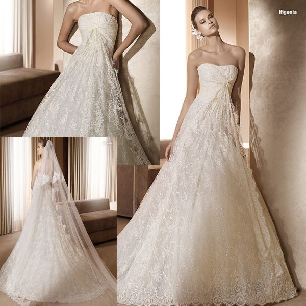 Stunning French Lace Wedding Gown -111165   Wedding Style Uniquely ...
