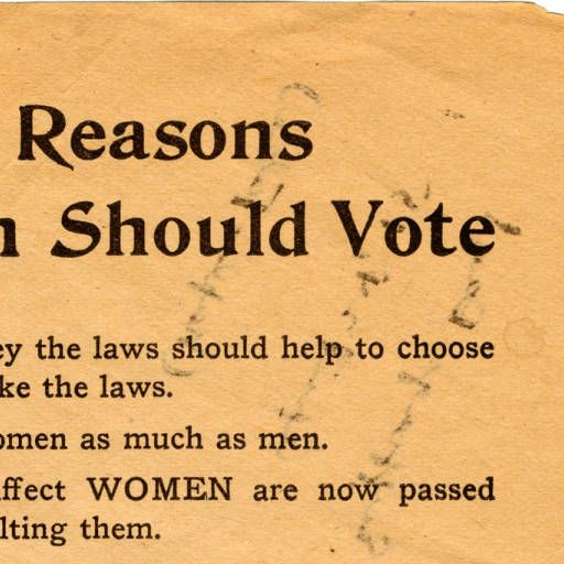 Women's Suffrage Quotes Cool Twelve Reasons Why Women Should Vote  Archives & Special