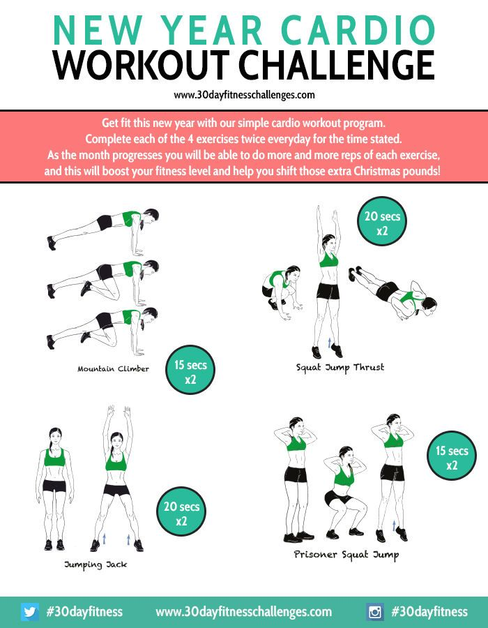 New Year Cardio Workout 30 Day Challenge Fitness Workout