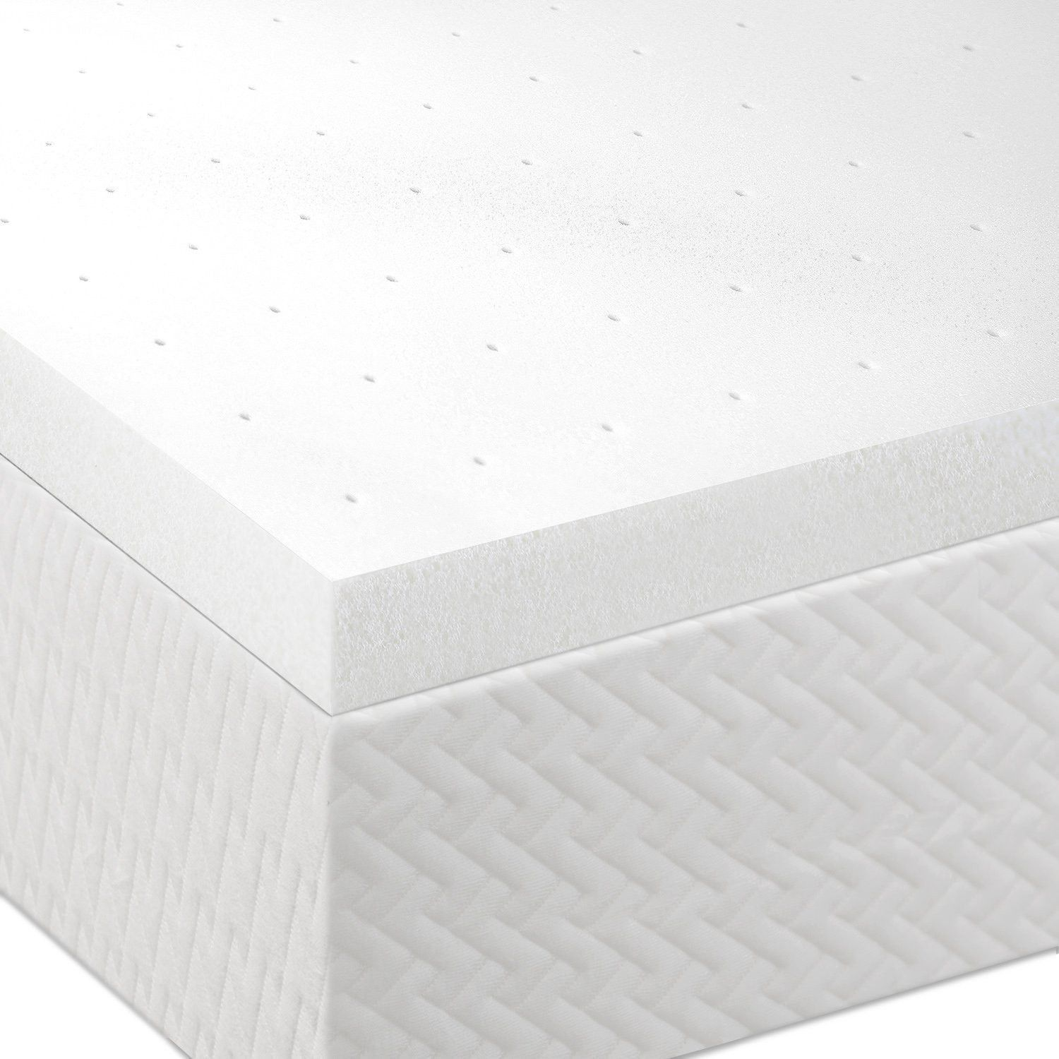 king size 2inch thick memory foam mattress topper