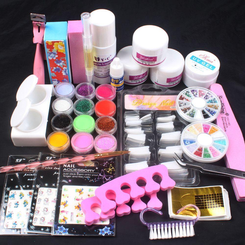 Yichen DIY Nail Art Tip Kit Set Acrylic nail kit, Nail