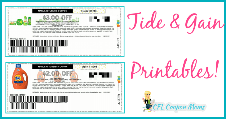 photograph about Gain Printable Coupons identify tide income printables - cfl coupon mothers Checklist Printable