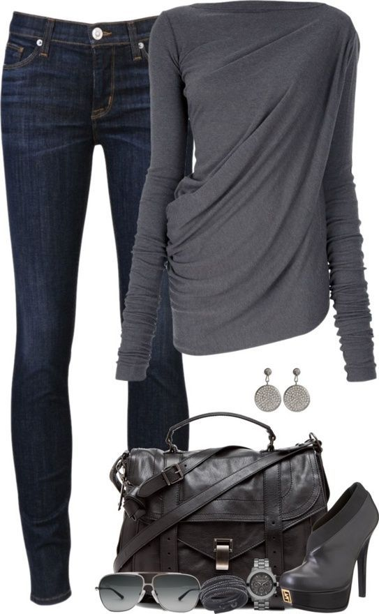 Jeans outfit with anthracite (color pass number 4) Kerstin Tomancok / color, type, style & image advice