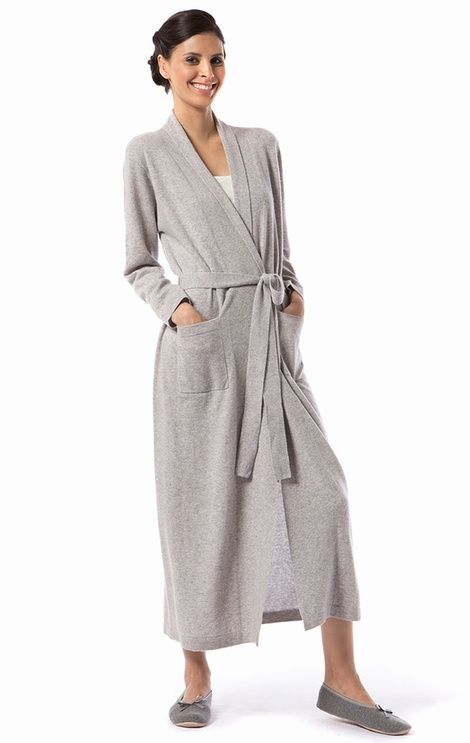 Supremely elegant ladies long length cashmere and wool kimono ...