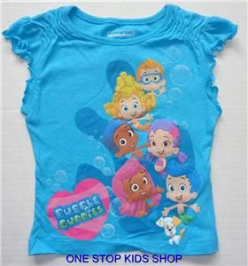 bubble guppies toddler clothing bubble guppies toddler girls 2t 3t 4t 5t tee shirt top