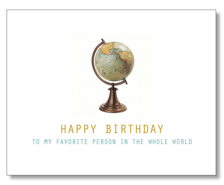 Globe Birthday Card Awesome Happy Birthday Card My