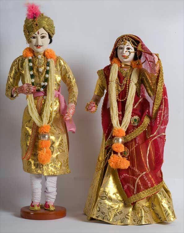 Rajput Wedding Dolls Ceramic Tableware Wedding Doll Fashion