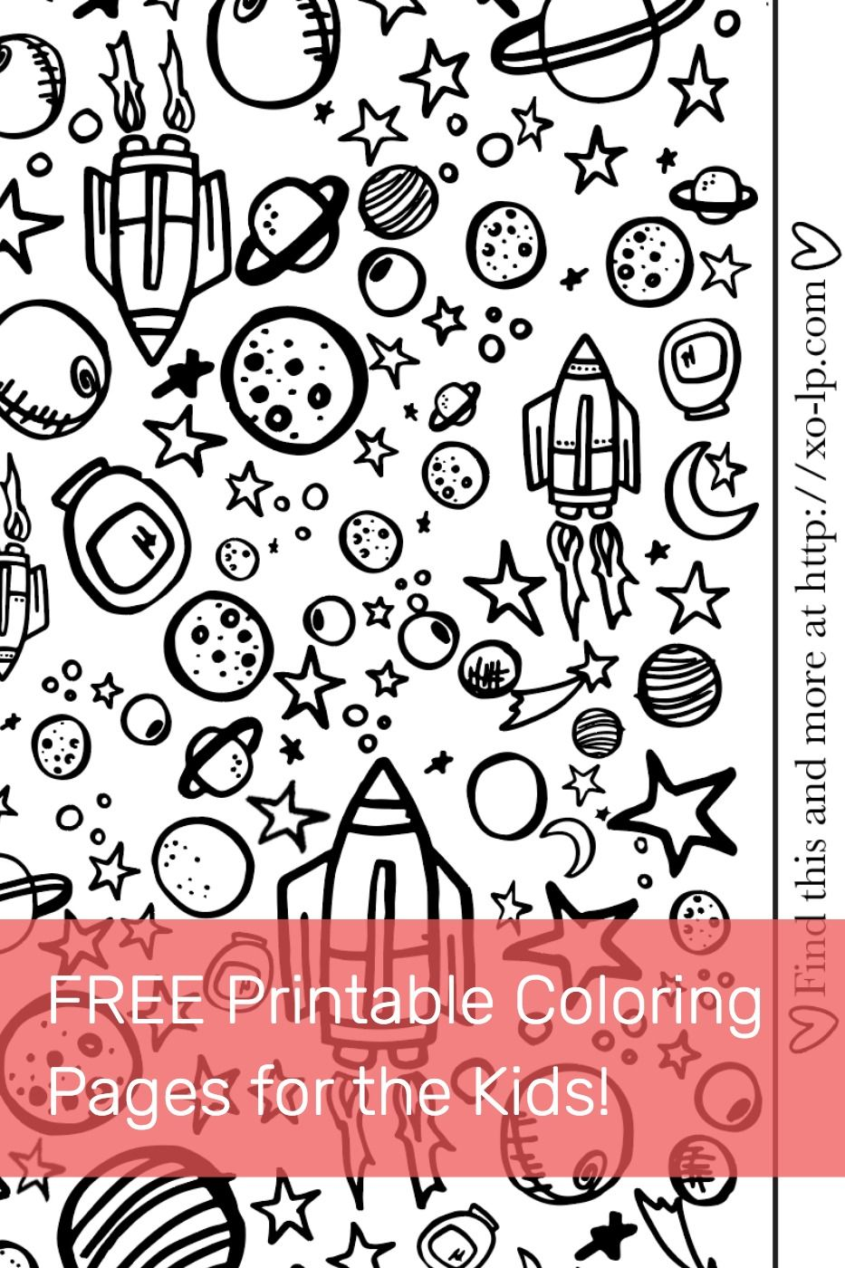 Outer Space Coloring Pages - GetColoringPages.com | 1400x933