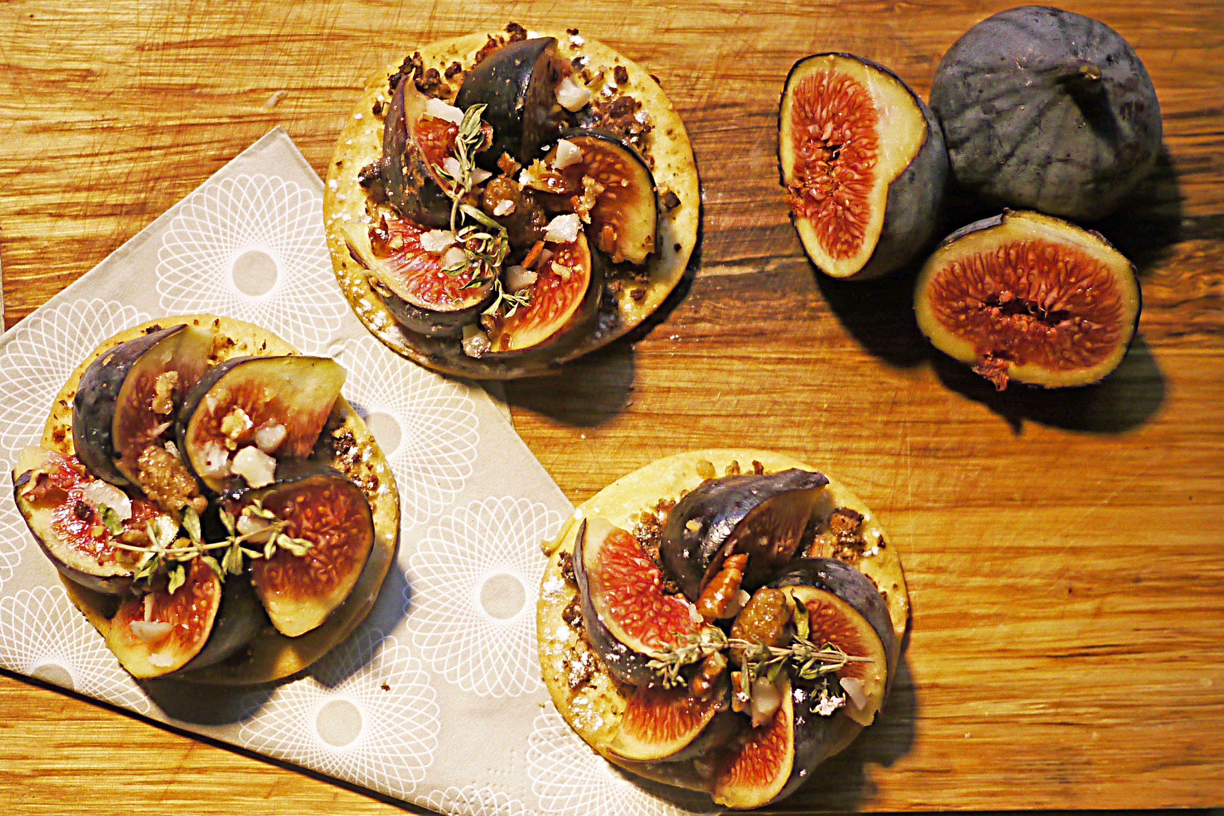 Tartelettes de figues au thym