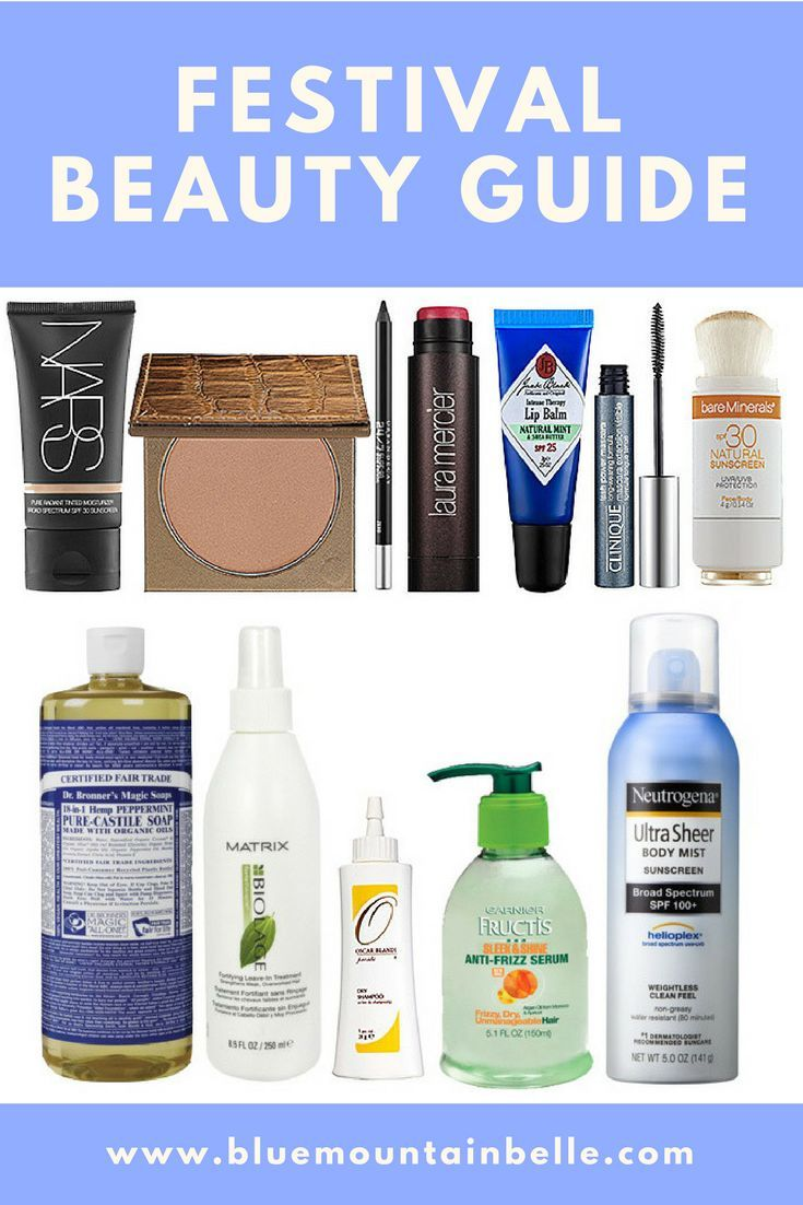 Festival beauty guide - how to look good all day in the heat, dirt and rain