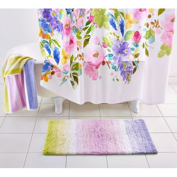 Bluebellgray Wisteria Shower Curtain 38 Liked On Polyvore Featuring Home Bed Bath Curtains Main And Floral