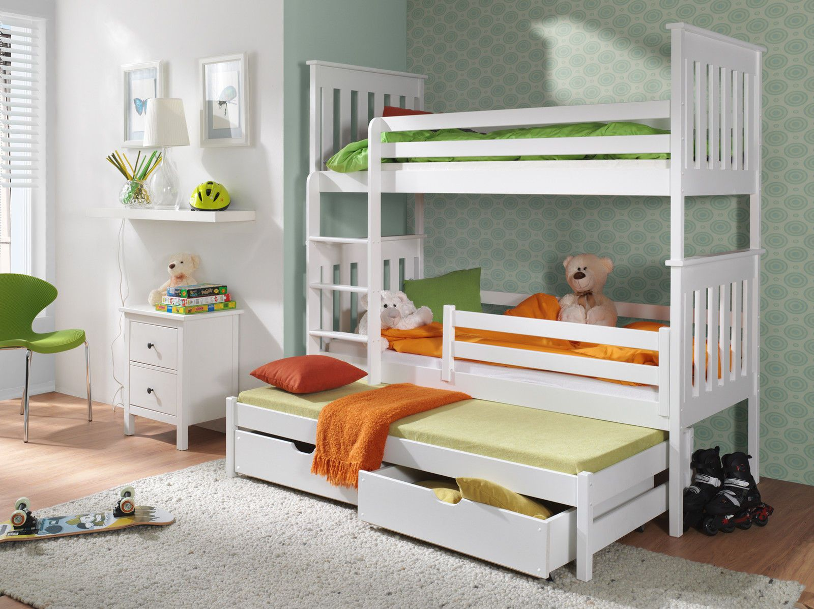 hochbett jarek bett mit matratze kinderbett kinderzimmer farbauswahl ebay hochbett. Black Bedroom Furniture Sets. Home Design Ideas