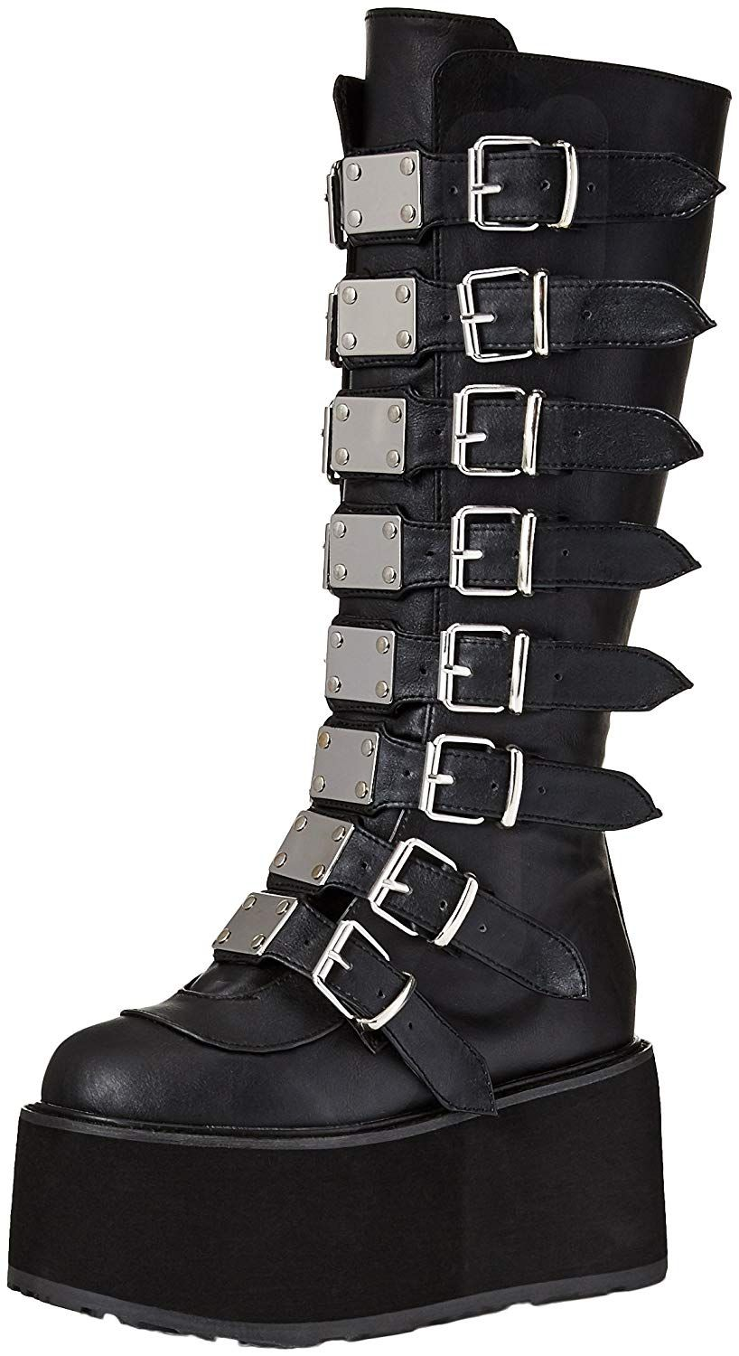 691716d99f0 Demonia Women's Damned-318 Knee High Boot * Hope that you actually ...