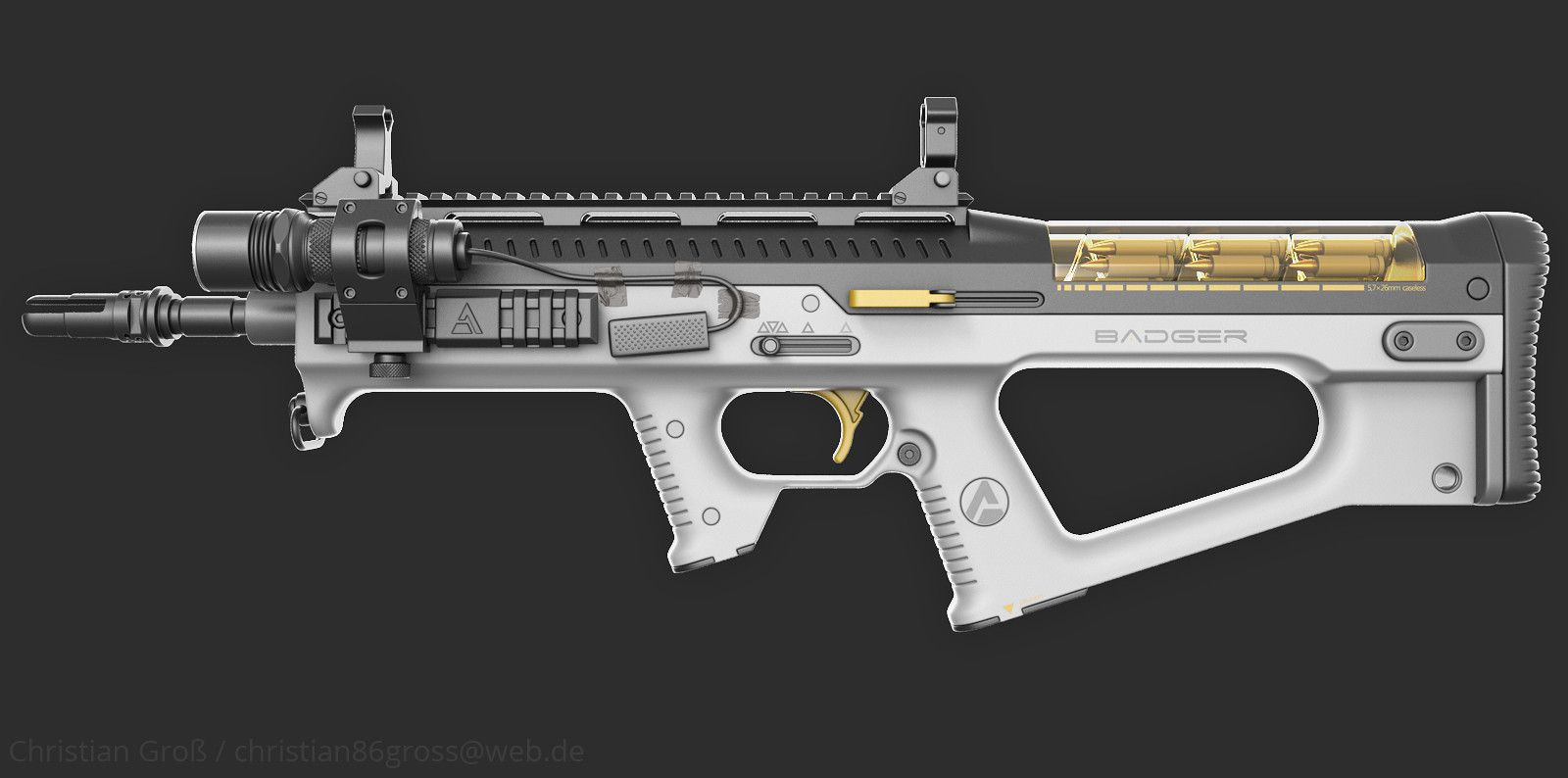 "ArtStation - Assault Rifle ""Badger"", Christian Groß http://riflescopescenter.com/category/barska-riflescope-reviews/"