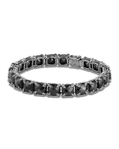 Y34BS David Yurman 7mm Linear Faceted Bracelet with Diamond Prongs