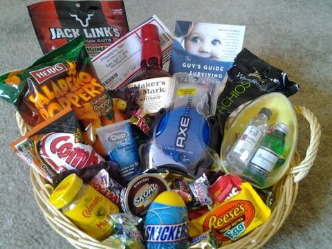 Manly easter basket 2012 whiskey junk food beef jerky dip manly easter basket 2012 whiskey junk food beef jerky dip daddy guy giftshusband negle Choice Image