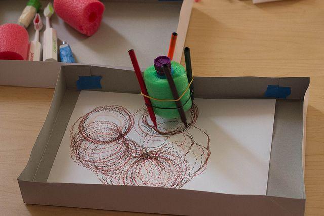 DIY Art Bot: Easy Art Project for Kids | Craft activities ...  |Art Bot Pool Noodle