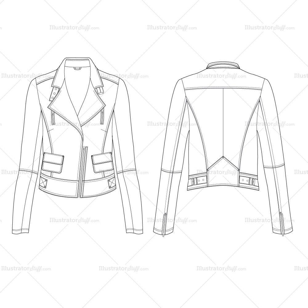 Girls Moto Jacket