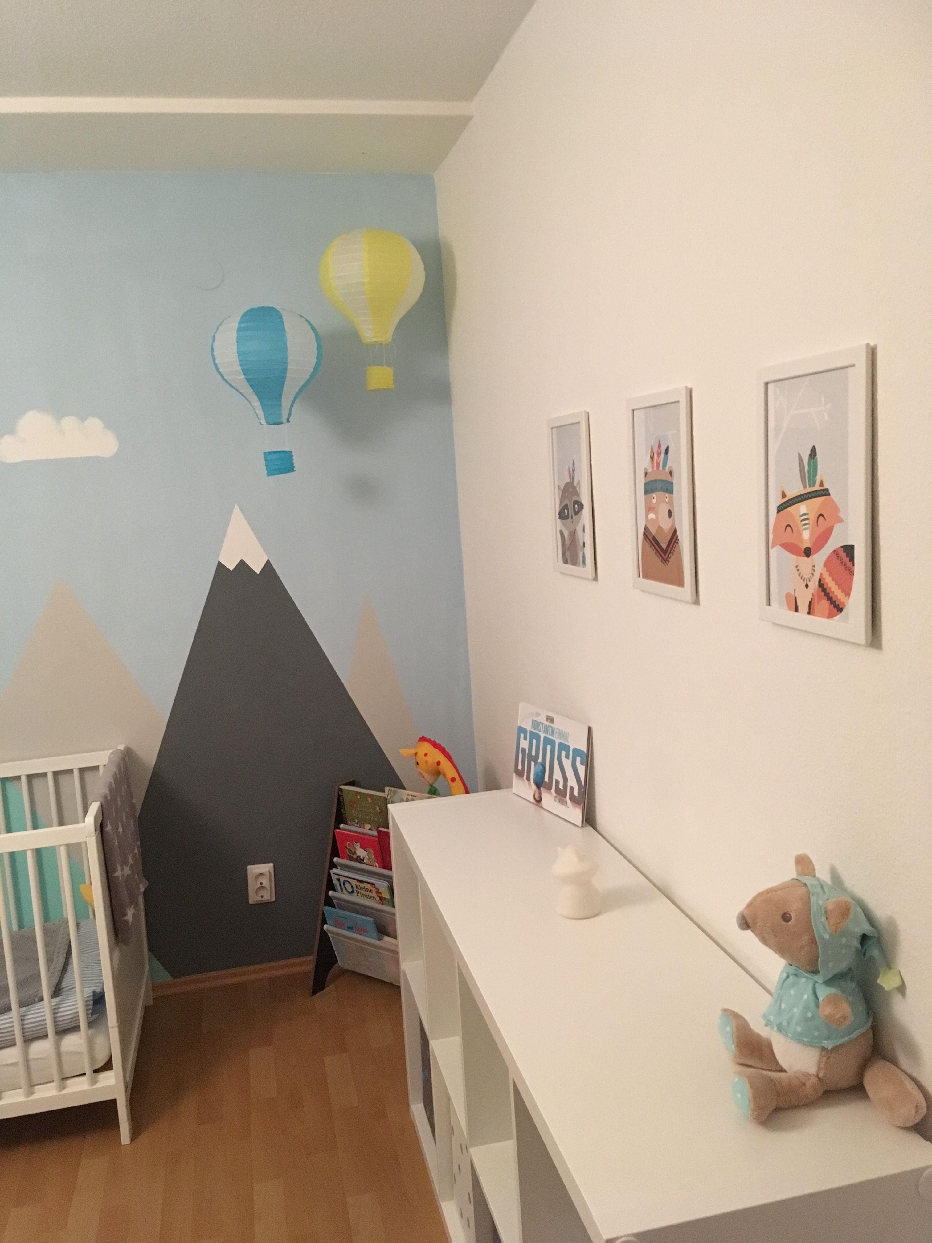 Kinderzimmer Junge Berge Mountains Heißluftballon Indianer Kinder Zimmer Kinderzimmer Junge Kinderzimmer
