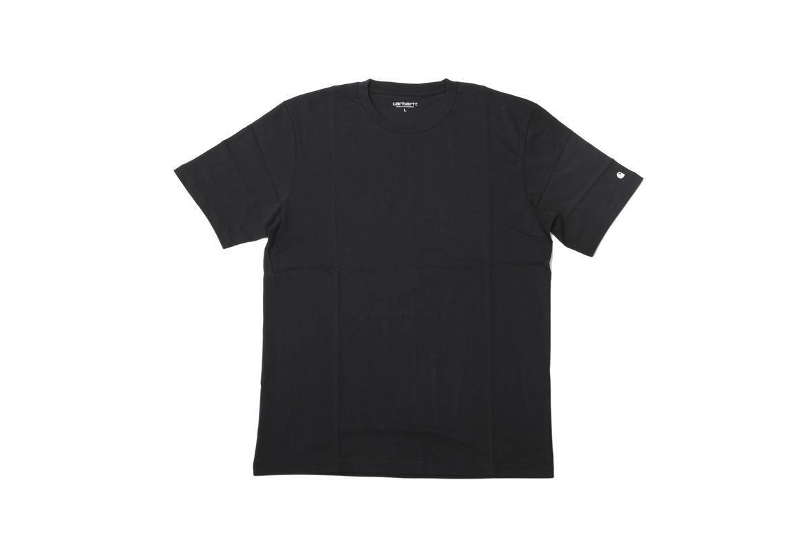 #CARHARTT - BASE #T-SHIRT SINGLE - BLACK/WHITE