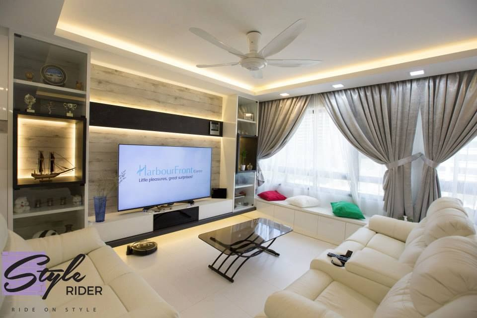 Hdb bto 5 room maximised storages at punggol living room for Hdb 5 room interior design