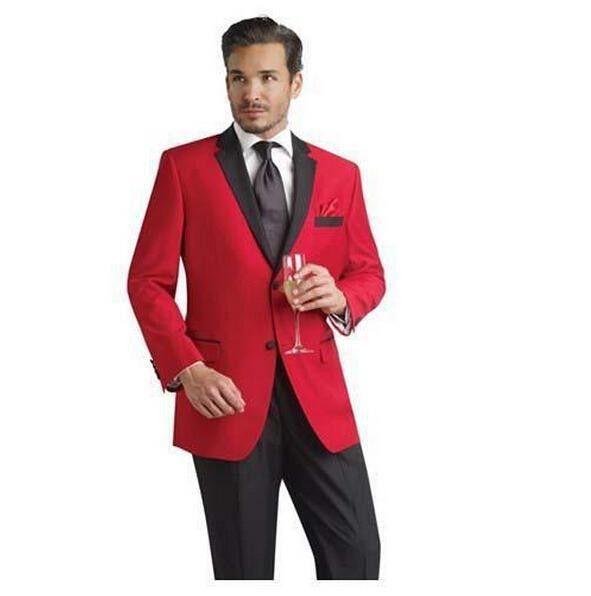 2016 Men Formal Dress Suits Fashion Red Business Suit Men Wedding ...