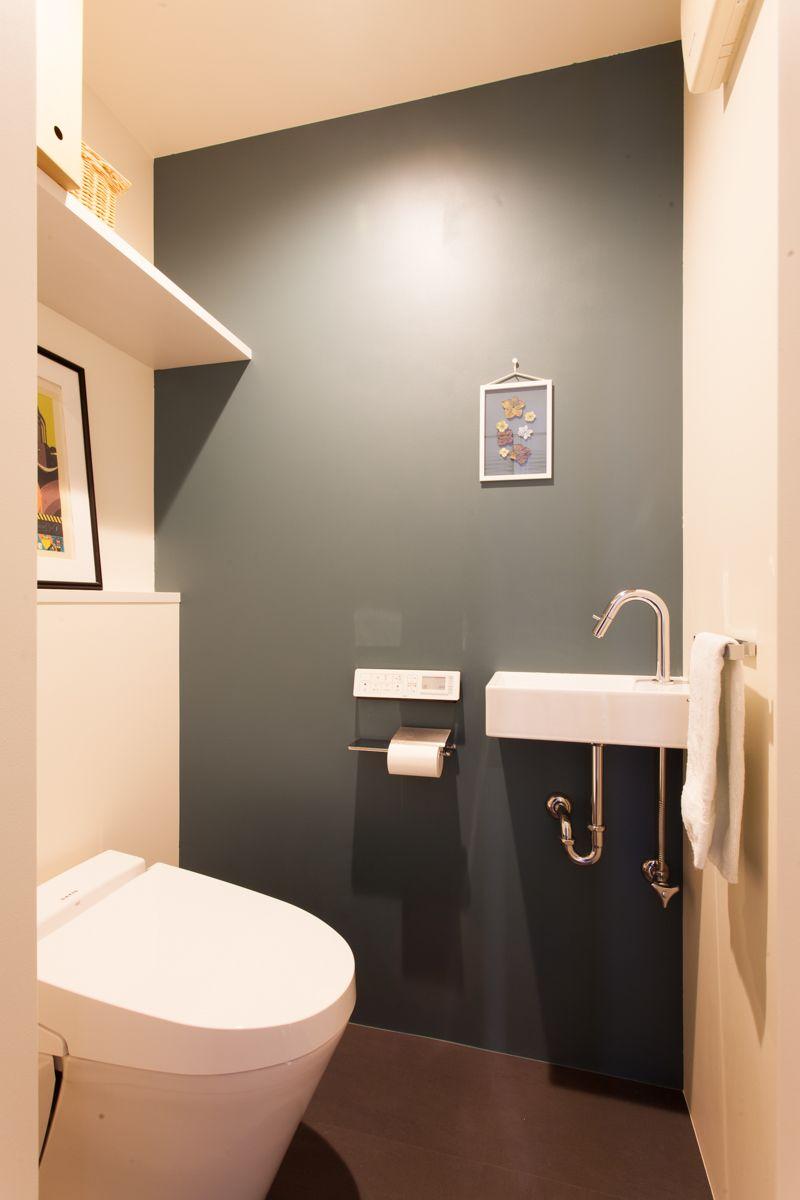 トイレ Toilet 塗装壁 ペイント Wallpaint Colorwall Lixil Y様