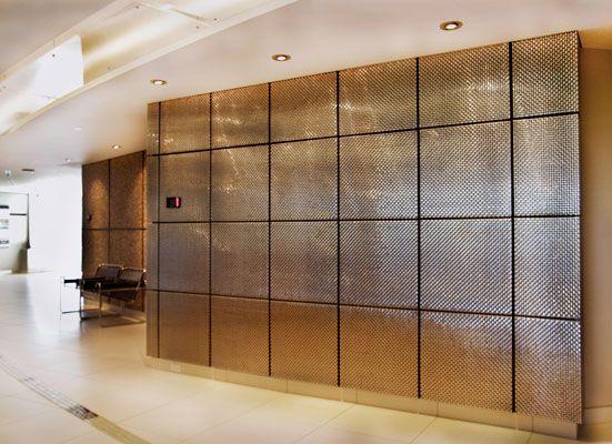 Metal Mesh Panels Bankerwire Com Interior Wall Design Bathroom Interior Design Metal Wall Panel