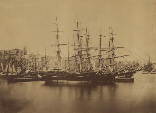 Gustave Le Gray - Ships in the Harbor at Sete (about 1857) | The J. Paul Getty Museum