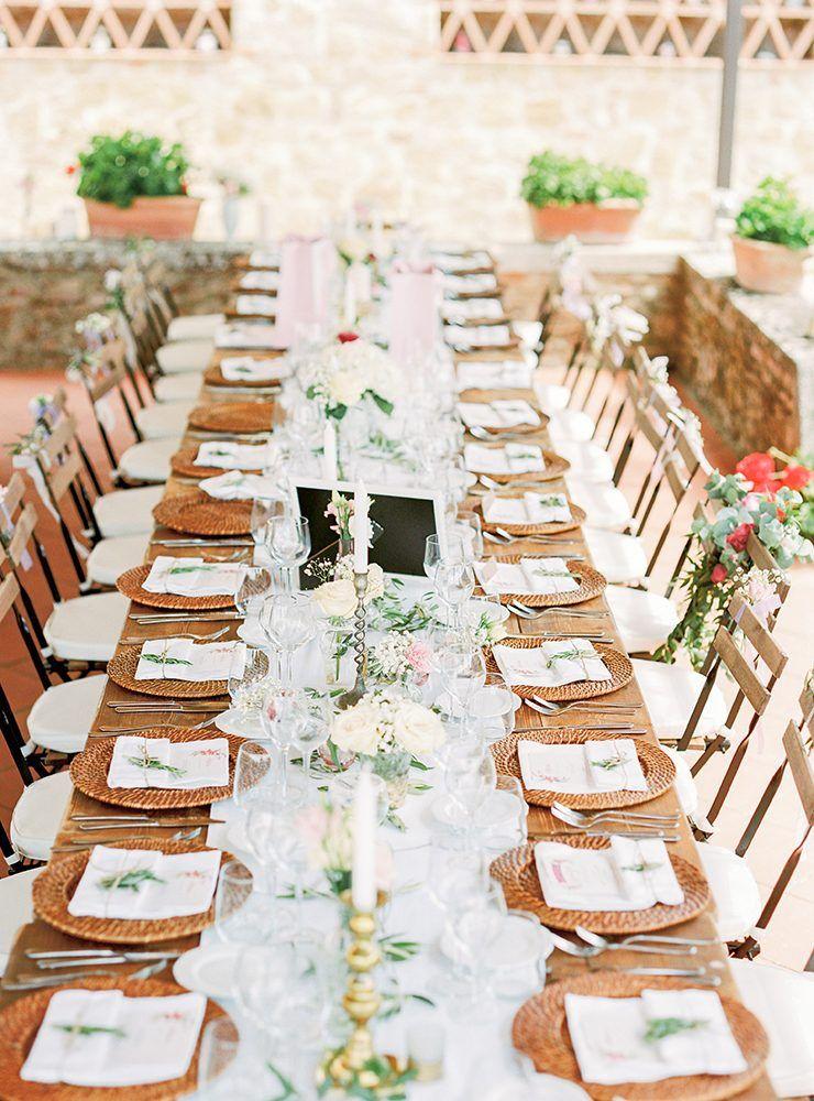 Outdoor wedding breakfast from Wiskow & White Italian Wedding Planners