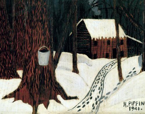 Maple Sugar Season Horace Pippin Folk Art Painting Horace
