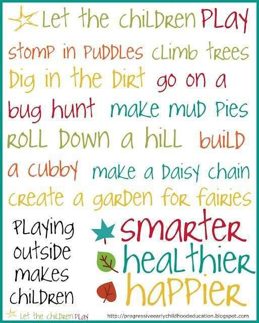 Childcare Quotes Amusing Let Children Express Their Explorations  Outside  Pinterest