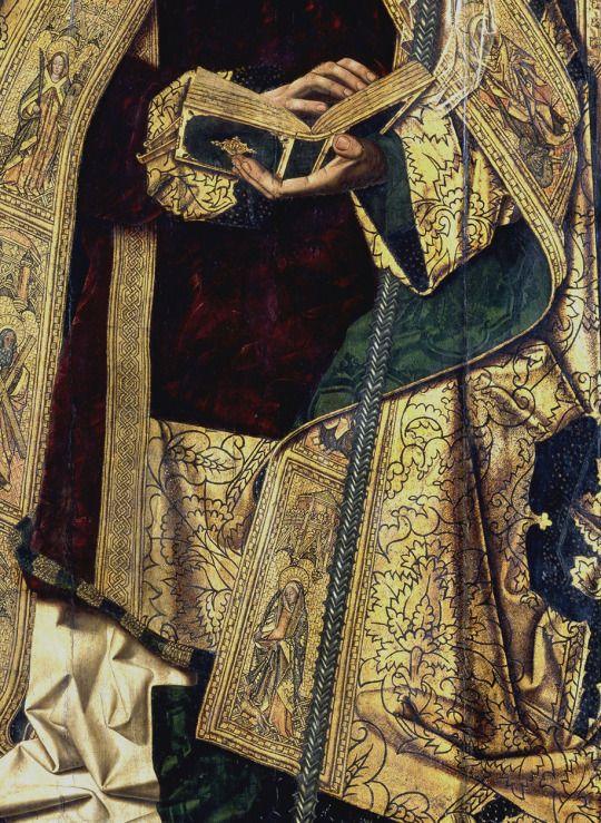 Bartolomé Bermejo. Saint Dominic of Silos enthroned as